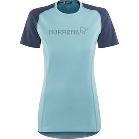 Norrøna Fjørå Equaliser Lightweight T-Shirt Dames, trick blue